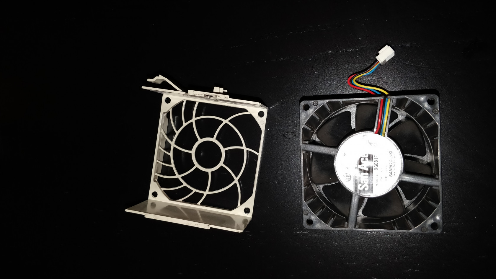 separated fan and case